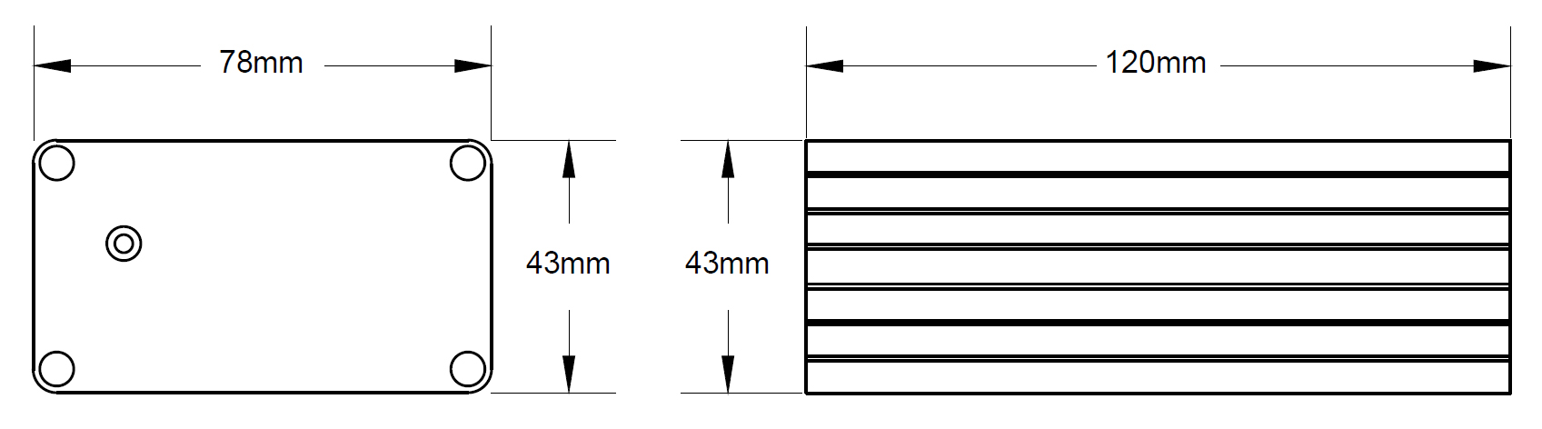 Wymiary urządzenia podane w mm.