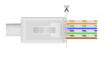 Wtyk RJ45 przelotowy