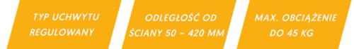 Specyfikacja uchwytu LX LCD93