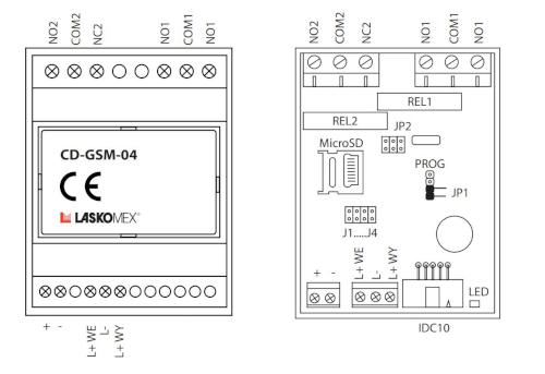 Schemat budowy modełu gsm - CD-GSM-04