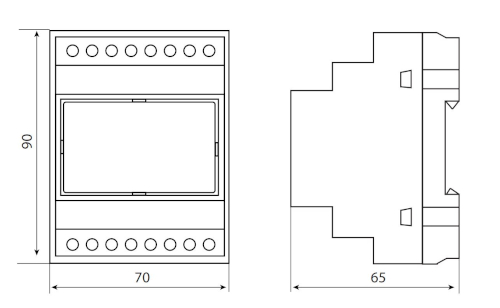 Wymiary modułu GSM - CD-GSM-04