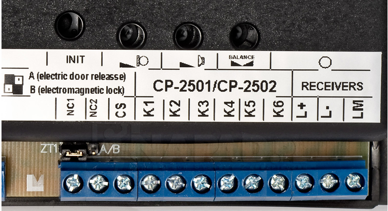 Regulacja parametrów systemu domofonowego