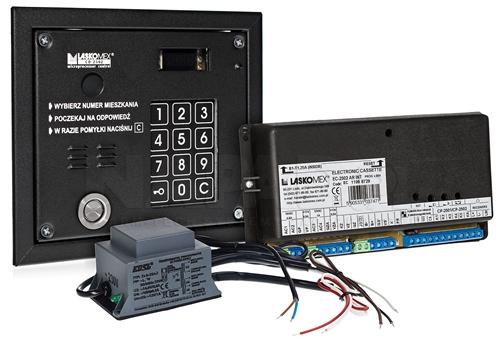 TR/B2303 - Przykład systemu domofonowego Laskomex.