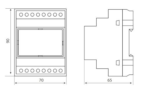 Wymiary modułu GSM - GSM-GS 510