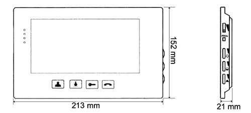 MVC-8151 - Wymiary monitora.