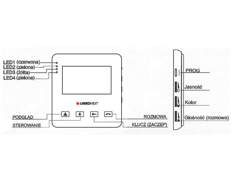 MVC8251 - Opis panelu monitora.