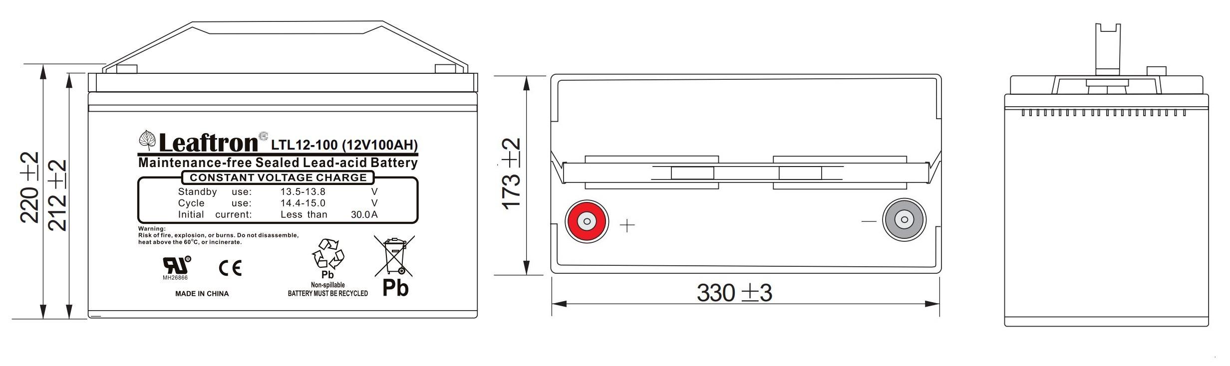 Akumulator 100Ah12V LTL12-100