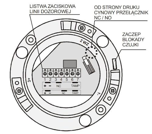 Budowa czujki OSD23