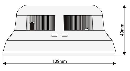 Wymiary OSD63W Lep czujka optyczno termiczna