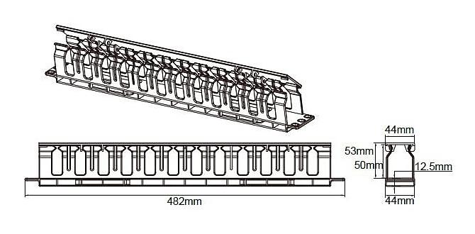 MTC04 - Wymiary organizera kabli.