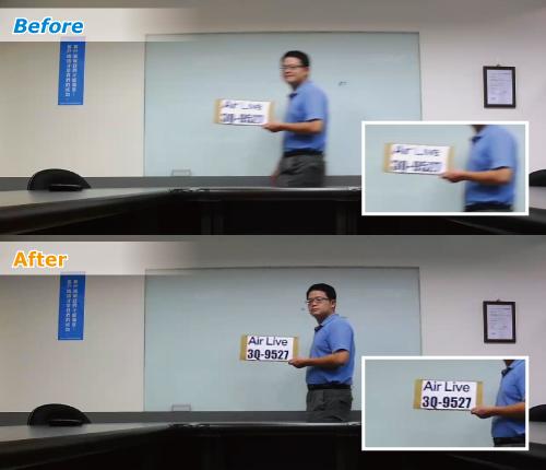 Porównanie obrazu z użyciem technologii Clear Motion to obrazu bez tej technologii