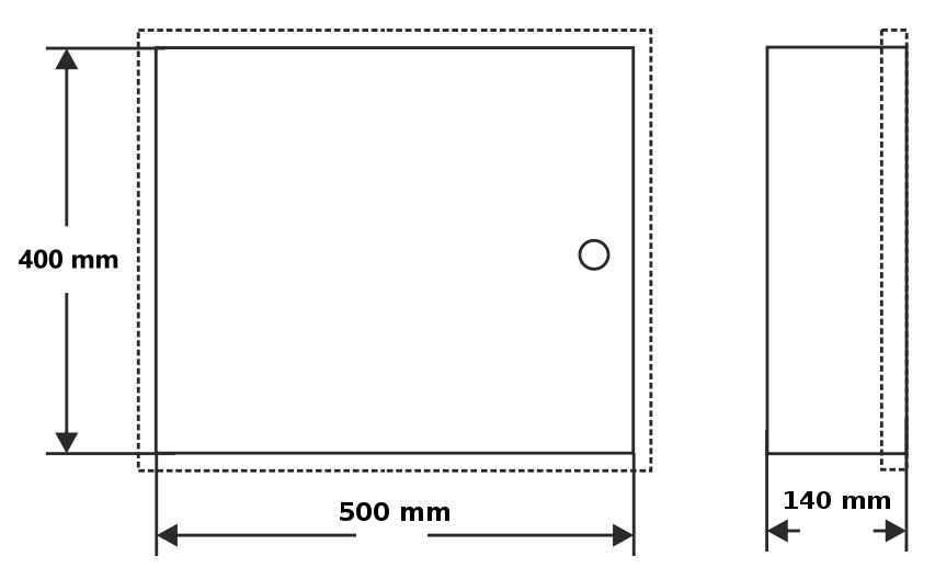 OMP-6 - Wymiary obudowy.