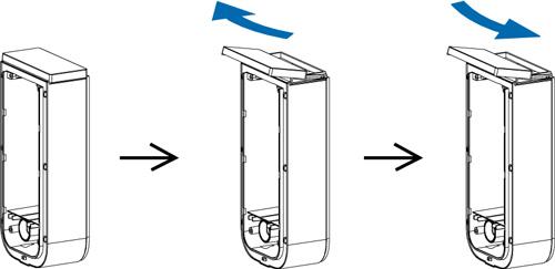 Pokrywa BXS CAP - Sposób instalacji pokrywy górnej do puszki.
