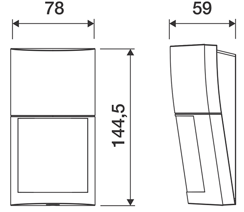 Wymiary czujnika QXI-ST.