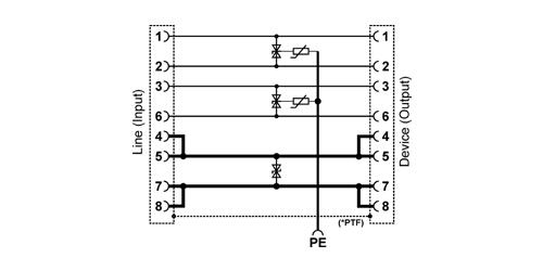 PTF-1-ECO/PoE - Uproszczony schemat blokowy.