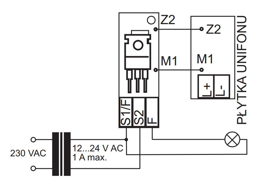 PW-1 - Schemat podłączenia modułu.