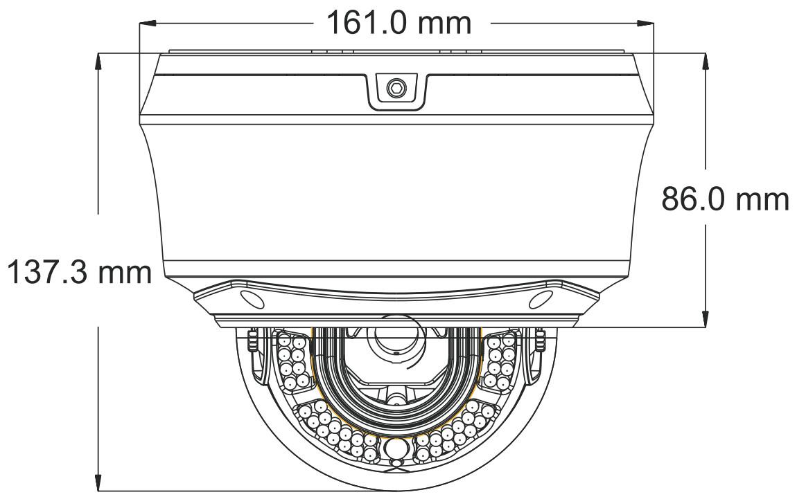 PX-DWVI4030AS-P - Wymiary kamery.