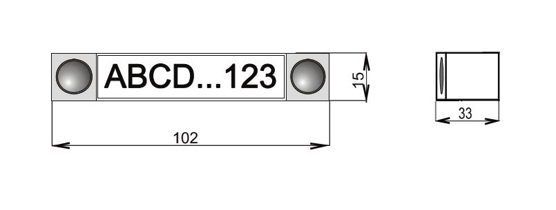 JA-192E - Wymiary panel modułowego sterowania (BUS).