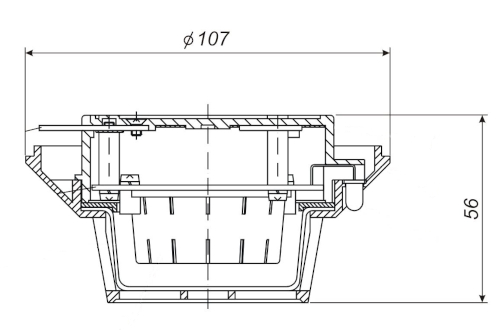 Wymiary czujki DIO-37Ex