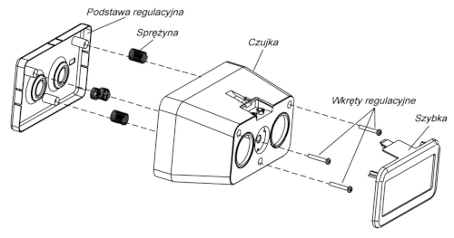 Konstrukcja czujki DOP-6001
