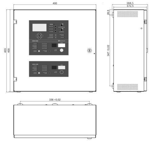 Wymiary centrala automatycznego gaszenia IGNIS 2500