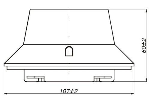 Wymiary czujki PUO-32Ex