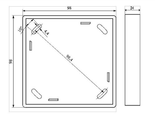 Wymiary ramki maskującej RM-60-Y