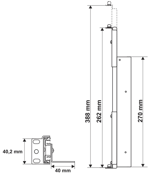 Wymiary szyn ARAS450.