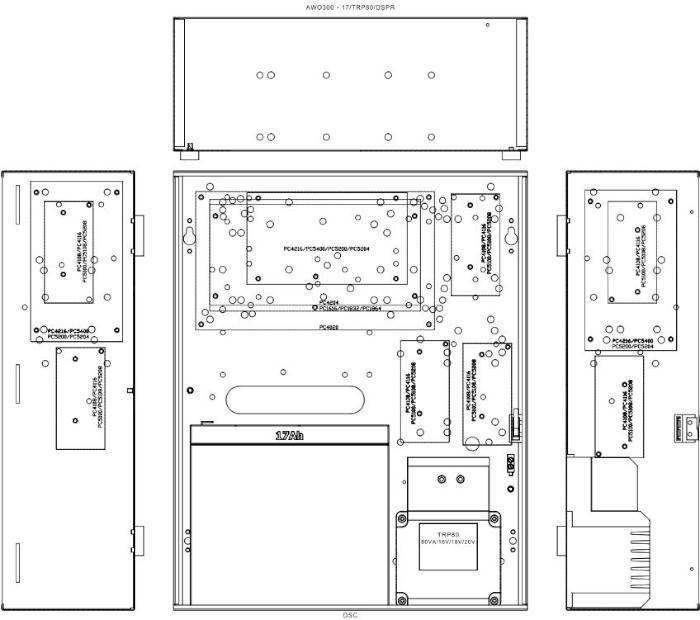 Montaż central DSC