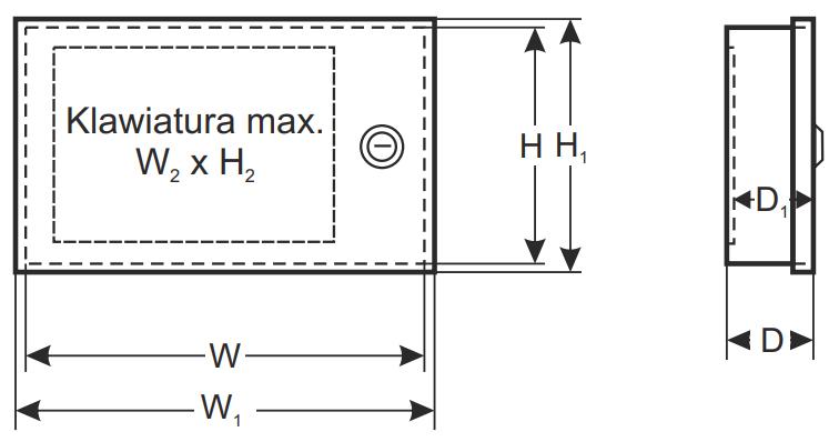 Wymiary obudowy Pulsar AWO353