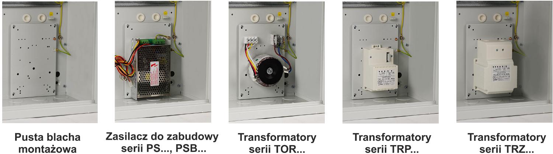 Pulsar AWO610 - Możliwość zamontowania zasilaczy i transformatorów.