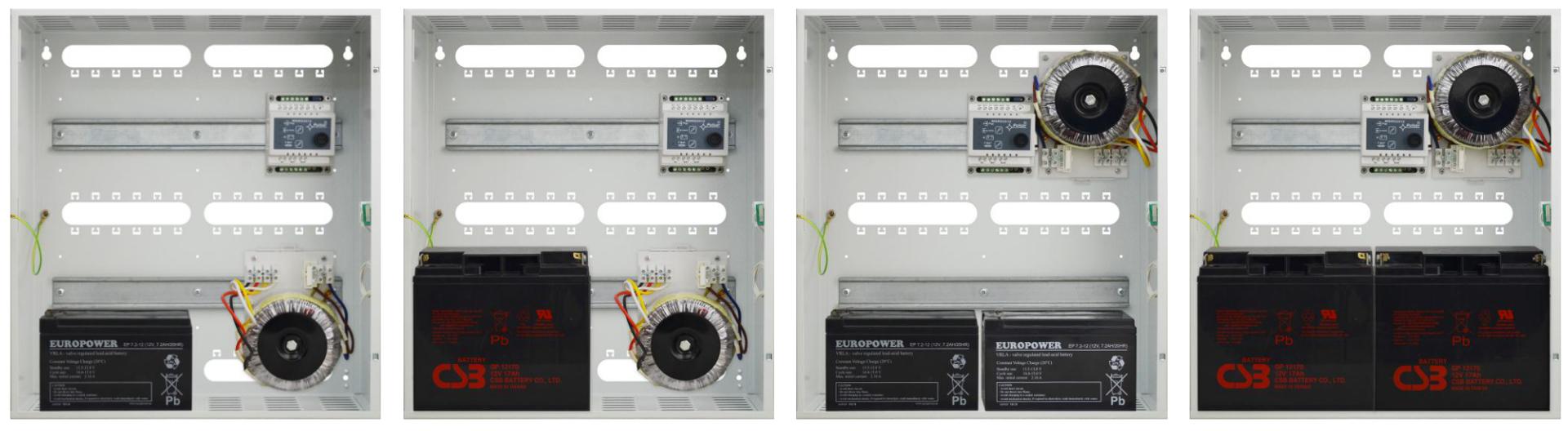 Pulsar AWO612 - Możliwość zamontowania zasilaczy i transformatorów.