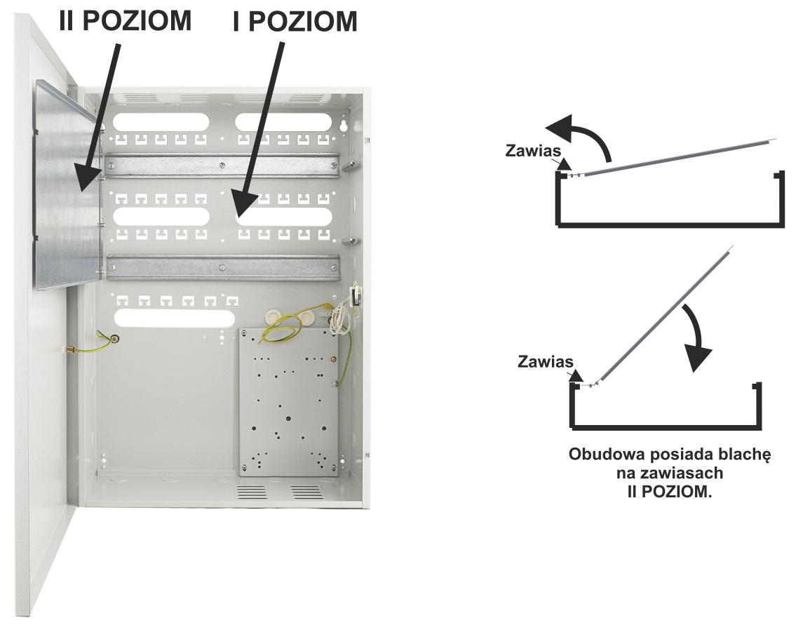 Pulsar AWO620 - Możliwość montażu urządzeń na dwóch poziomach.