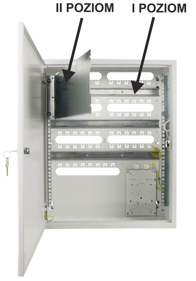 Pulsar AWO630 - Możliwość montażu urządzeń na dwóch poziomach.