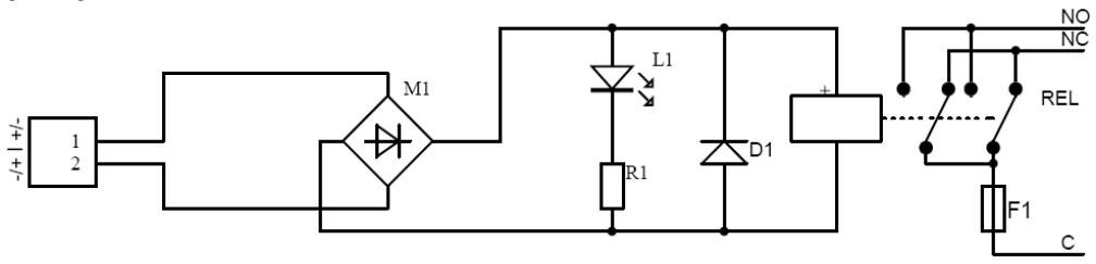 AWZ626 - Schemat elektryczny.