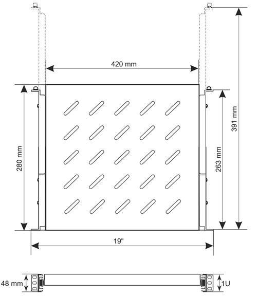 Wymiary półki RAPW450.