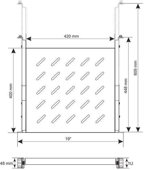Wymiary półki RAPW600.