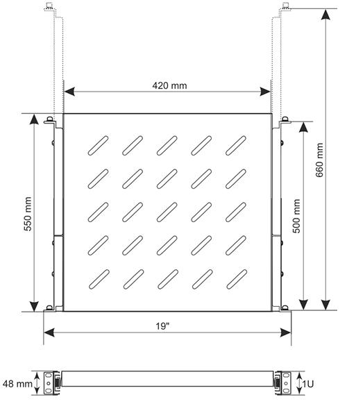 Wymiary półki RAPW800.