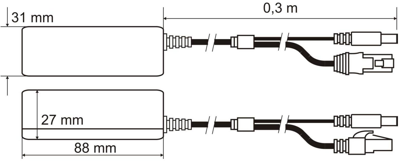 Wymiary Pulsar SP-POE12.