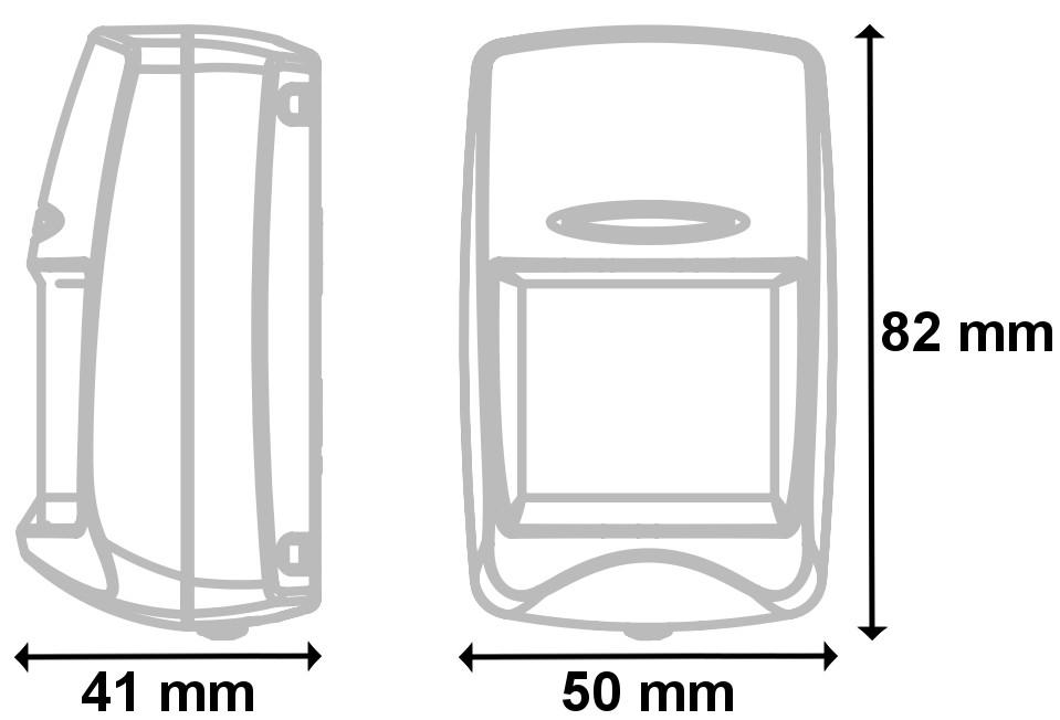 COLT10DL - Wymiary czujki podane w mm.