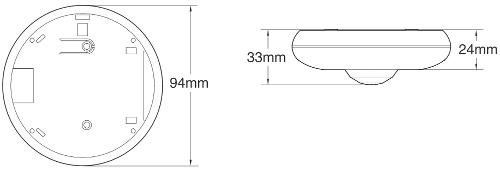 OCTOPUSDQ - Wymiary czujki podane w mm.