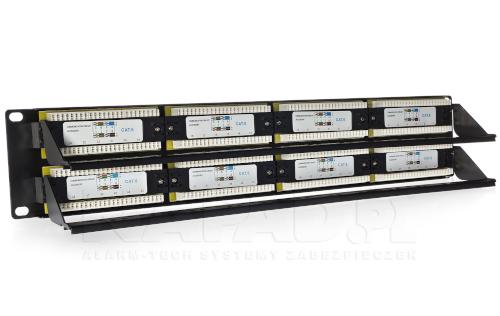 Wygodne w użyciu uchwyty pozwalają na szybkie i sprawne podłączenie kabli sieciowych.