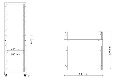 R26642 - wymiary stojaka Rack.
