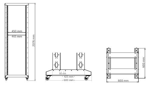 R46642 - wymiary stojaka Rack.
