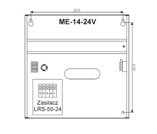 Wymiary obudowy ME-14-24V