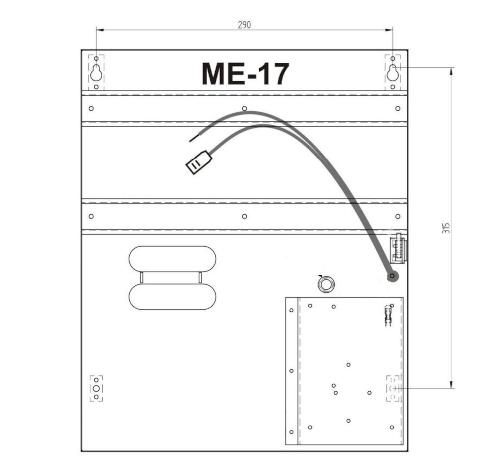 Wymiary obudowy ME-17