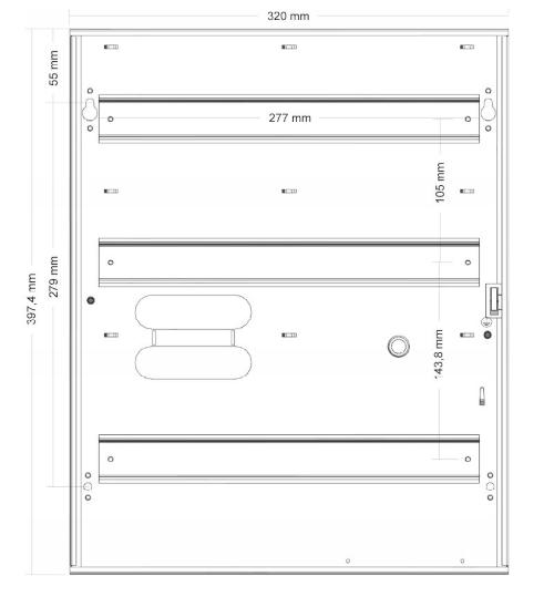 Wymiary obudowy ME-2-D