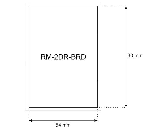 Wymiary modułu RM-2DR-BRD