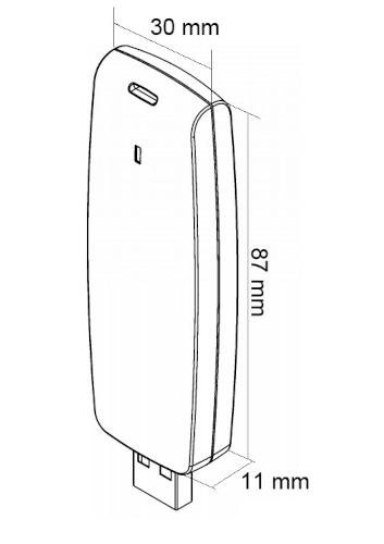 RUD-6-LKY - Wymiary klucza sprzętowego.