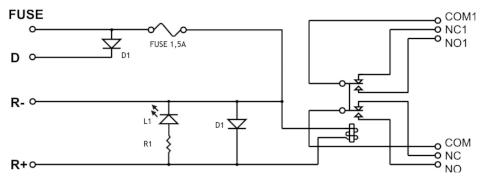 Przykładowy schemat elektryczny AWZ511